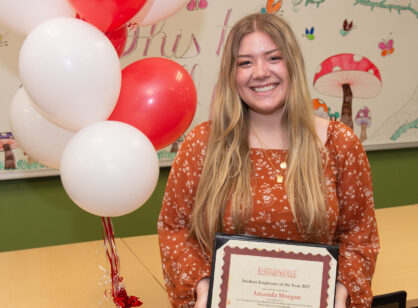 STEM Center's Amanda Morgan Named SIUE Student Employee of the Year!